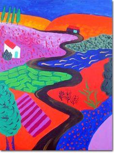 Squared Trees, 3D Squared Room, Landscape Memory David Hockney ...