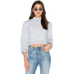 Lovers + Friends x REVOLVE Kourtney Cropped Sweater (£93) ❤ liked on Polyvore featuring tops, sweaters, sweaters & knits, cropped sweater, crop top and cut-out crop tops
