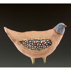 Sophia Ceramic Wall Hanging Bird by Jenny Mendes by jennymendes