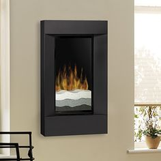 Dimplex Square Black Wall Mount Electric Fireplace