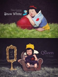 "Newborn Photography: Fairytale Stories introducing another classic ""Princess Snow White"" and the Queen."