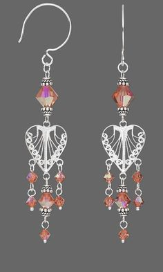 Earrings with Swarovski® Crystal Beads and Sterling Silver Drops - Fire Mountain Gems and Beads
