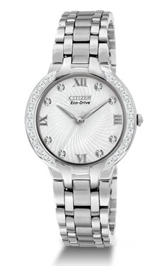 Stainless steel Bella watch is set with 28 diamonds 98b8f2aa1f