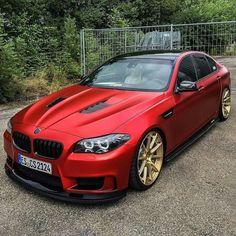 BMW F10 M5 red
