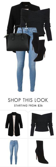 """Untitled #984"" by cmmxo ❤ liked on Polyvore featuring Miss Selfridge, 7 For All Mankind, Steve Madden and Givenchy"