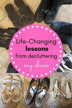 When I minimized my shoes, I had no idea that I'd also be hit with some important life lessons and the start of a massive decluttering snowball. I Heart Organizing, Organizing Tips, Hobby Tools, Important Life Lessons, Professional Cleaning, Life Organization, Simple Living, Getting Organized, Cleaning Hacks