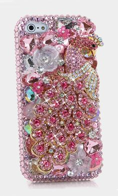 Pink Peacock bling case handcrafted design for Samsung Galaxy S5, iPhone 4/ 4s, iPhone 5/ 5s, iPhone 6/ 6s Plus, Samsung Galaxy (S3, S4, S6 Edge), Galaxy Note( 2, 3, 4, 5), Nokia Lumia, Black Berry, HTC, Motorola and for most phone/device. #BlingCase #SamsungGalaxyS5 #SamsungGalaxyS5BlingCase http://luxaddiction.com/collections/3d-designs/products/pink-peacock-design-style-499