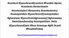 Best Instagram Hashtags, Most Popular Hashtags, Top Tags, Giveaways, Competition, Youtube, Youtubers, Youtube Movies