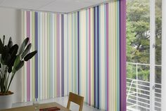 I usually don't like vertical blinds but in this design it works really well.