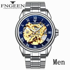 Mechanical Watches Men's Watches Forsining Golden Mens Watches Top Brand Luxury Mechanical Skeleton Dial Mesh Strap Fashion Urban Dress Wristwatches 2019 Bracing Up The Whole System And Strengthening It