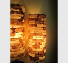 diy coffee filter lamp shades | Recycled Coffee Filters Turned Into Designer Lights | Lights and ...