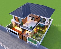 House design Stunning Three-bedroom Contemporary Villa with a Classic Touch - Cool House Concepts Ho 3 Storey House Design, Two Story House Design, Modern Small House Design, Village House Design, Bungalow House Design, House Front Design, Sims House Design, Kerala House Design, Minimalist House Design