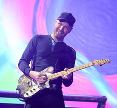 Jonny Buckland, Coldplay, AHFOD Tour, Cardiff, 11 July 2017.