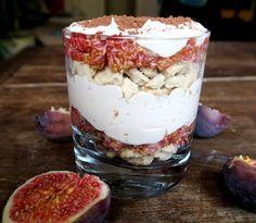 at ease: Vegan Coconut And Fig Tiramisu Fig, Tiramisu, Healthy Lifestyle, Vegan Recipes, Coconut, Pudding, Desserts, Tailgate Desserts, Deserts