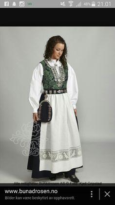 Providing information, photos and general knowledge of Norwegian bunad, festdrakts and folkdrakt. Bridal Crown, Folk Costume, Norway, Lace Skirt, Apron, High Waisted Skirt, Clothes, Scandinavian, Dresses