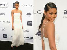 Chanel Iman In Calvin Klein - 2014 amfAR New York Gala. Re-tweet and favorite it here: https://twitter.com/MyFashBlog/status/431369126561345537/photo/1