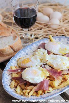 Huevos rotos con jamón www.cocinandoentreolivos (10)