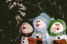 Christmas Caroling  Christmas Snowmen  Snowmen by turquoisemoon