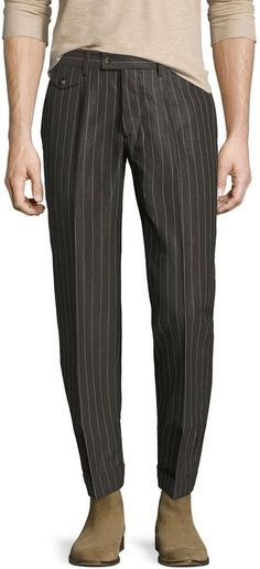 Michael Bastian Men's Cotton Pinstripe Straight Leg Pant