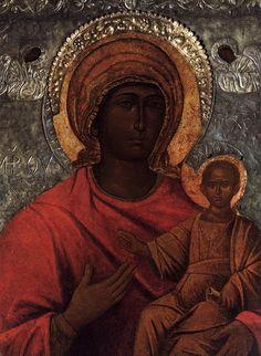 UNKNOWN ICON PAINTER, Cretan  THE MADONNA DELLA SALUTE  12th century    Santa Maria della Salute, Venice