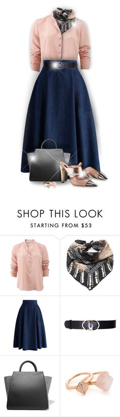 """""""Blue & Pink"""" by monazor ❤ liked on Polyvore featuring STELLA McCARTNEY, DANNIJO, Chicwish, Chanel, ZAC Zac Posen, Louis Vuitton, Michael Kors, outfit, Pink and Blue"""