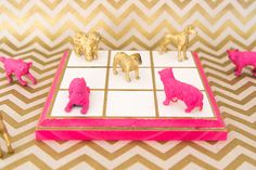 DIY Gilded Tic Tac Toe Set | Darby Smart | DIY Boardgame