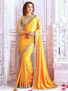 9d9f2e40a8658a WSR26440 - Silk Wedding Saree with Stone Work