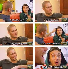 Tom and Max on The Wanted Life bahaha!