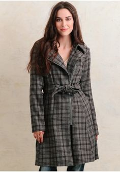 Sandra Plaid Coat By BB Dakota