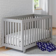 Status Furniture Beckett 3-in-1 Convertible Crib --- can begin as a co sleeping bed, transition to a crib, then a toddler bed.