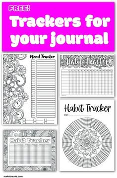 Planner Printables Archives - Make Breaks Free trackers for your planner and bullet journal :) Bullet Journal Free Printables, Journal Template, Bullet Journal Ideas Pages, Planner Template, Bullet Journal Inspiration, Journal Pages, Printable Planner, Schedule Templates, Baby Journal