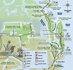 Northeast Florida Beaches Map.140 Best Parks Of Northeast Florida Images Fernandina Beach