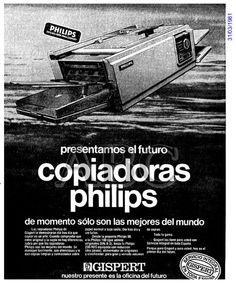 Copiadoras Philips. Gispert. Año 1981.