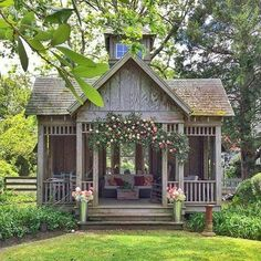 She Needs a She Shed with Fixer Upper Farmhouse Flair! - The Cottage Market - She Needs a She Shed with Fixer Upper Farmhouse Flair! She Needs a She Shed with Fixer Upper Farmhouse Flair! – The Cottage Market Diy Shed Plans, Storage Shed Plans, Diy Storage, Outdoor Storage, Barn Plans, Garage Plans, Wood Plans, Shed House Plans, Smart Storage