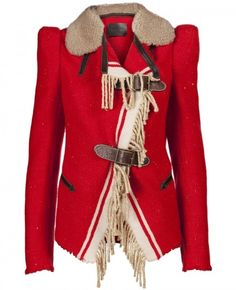 Alexander McQueen blanket wool military coat.     OMG !!!! I need this !