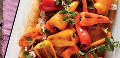 Sweet pepper tart