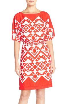 Eliza J 'OBI' Geometric Sheath Dress (Regular & Petite)