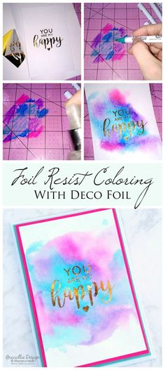 Create stunning projects with our Deco Foil. Learn how with this Foil Resist Watercoloring Tutorial on our blog!