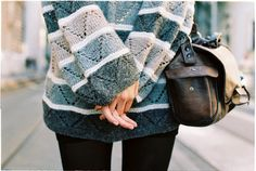 i really need a great big over-sized sweater! and that bag is super cute, too.