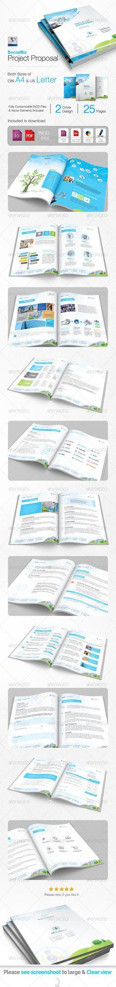 SocialBiz Social Media Proposal - Proposals & Invoices Stationery