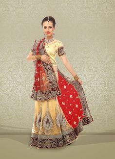Adorable Beige Net Embroidered #Lehenga Choli #bridallehenga #weddinglehengas #ethnicwear #womenapparel #womenfashion