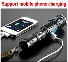 First Style First Support USB Charging the Mobile Phone T6 Super Light Bulb 1000lumens By Hiking Camping Cycling Black * You can find out more details at the link of the image.