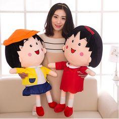 79.98$  Buy here - http://alipkb.worldwells.pw/go.php?t=32748469393 - Fancytrader Soft Girls Toy Chi-bi Maruko Plush Doll Stuffed Pop Japan Cartoon Charact Little Girl  Plush Hobbies 79.98$