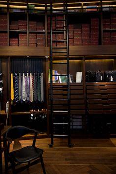A masculine-style closet.