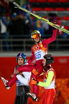 Kamil Stoch of Poland won a gold medal in the Men's Ski Jump. Photo credit: Getty Images/Olympic.org.