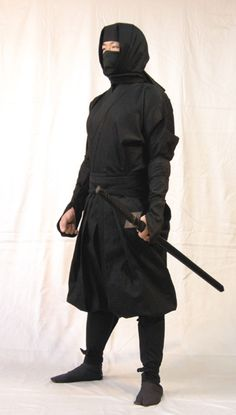 ninja costume that Chester uses when he sneaks into classroom