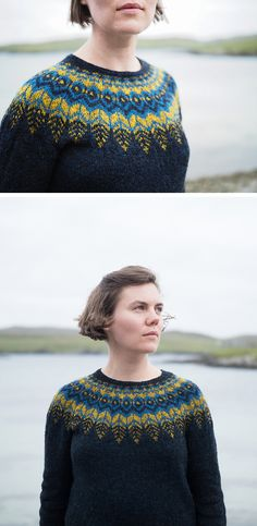 I KNOW! Another dark sweater with colorwork yoke (love and have), but independent of that, I'm a bit swoony over Ysolda Teague's new pullover pattern, Threipmuir. Ysolda's sort of…