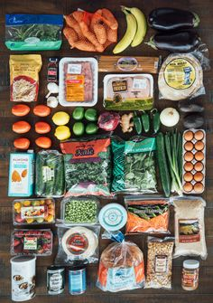 Our total at the local Trader Joe's for seven days of breakfasts, lunches, and dinners: $74.20, or about $3.50 per meal. (But that's also with us shopping in NYC at a grocery store that doesn't take coupons. Meaning: You could probably do this for cheaper!)Here's the full grocery list in printable PDF form.(*Also, a note on buying organic: To keep costs down, we opted out of organics if TJ's had conventional options available. But if your budget allows, feel free to splurge.)