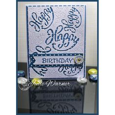 Serendipity Stamps Happy Background Die and our Birthday stamp ($1 sale!)