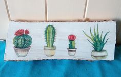 Decoupaged log with cactus. Facebook Sign Up, Decoupage, Cactus, Decor, Decoration, Cactus Plants, Decorating, Deco, Embellishments